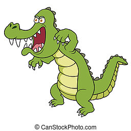 Cartoon crocodile - Vector illustration of Cartoon crocodile