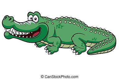 Vector illustration of Cartoon crocodile