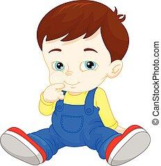 Cartoon cute baby boy
