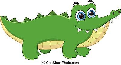 cartoon cute baby crocodile