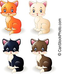 Cartoon cute cat collection
