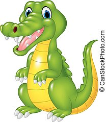 Cartoon cute crocodile