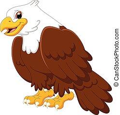 cartoon cute eagle