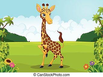 Cartoon cute giraffe