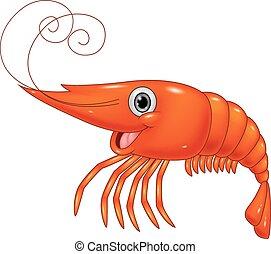 Cartoon cute lobster