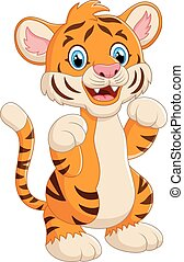 cartoon cute tiger
