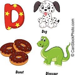 Cartoon D alphabet