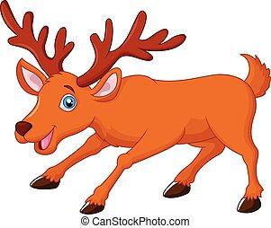 Cartoon deer  - Vector illustration of Cartoon deer