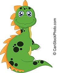 Cartoon dinosaur posing