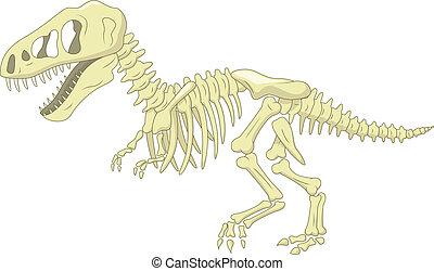 Cartoon Dinosaur skeleton