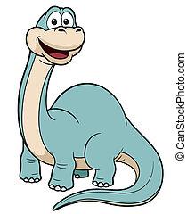 Cartoon dinosaur - Vector illustration of Cartoon dinosaur