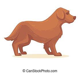 Vector illustration of cartoon dog. Isolated