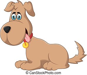 Cartoon dog sitting