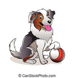 Cartoon Dog with ball