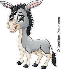 Cartoon donkey smiling