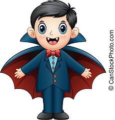 Cartoon dracula kid