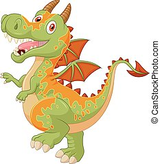 Cartoon dragon  - Vector illustration of Cartoon dragon