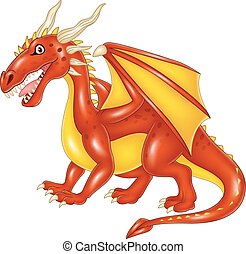 Cartoon dragon posing