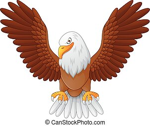 Cartoon eagle fly
