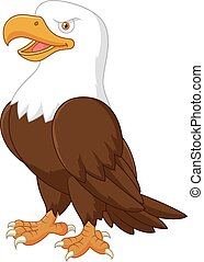 Cartoon eagle posing