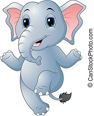 Cartoon elephant dancing