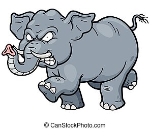 Elephant - Vector illustration of Cartoon Elephant
