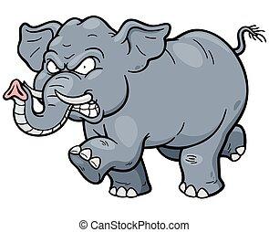 Elephant - Vector illustration of Cartoon Elephant