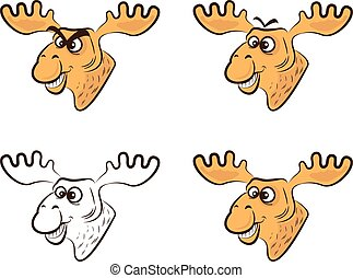 Vector Illustration of Cartoon elk