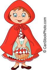 Cartoon fairy princess with robe - Vector illustration of...