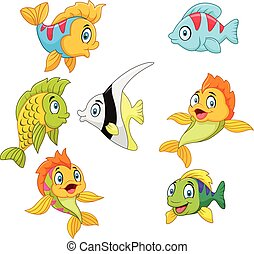 Cartoon fish collection set