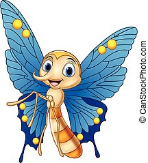 Cartoon funny butterfly