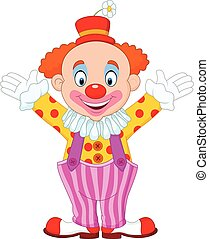 Cartoon funny clown