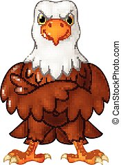 Cartoon funny eagle cartoon posing