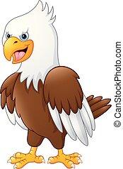Cartoon funny eagle