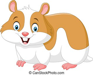 Cartoon funny hamster isolated