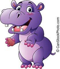 Cartoon funny hippo