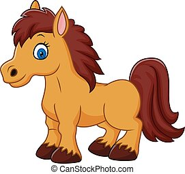 Cartoon funny horse - Vector illustration of Cartoon funny...