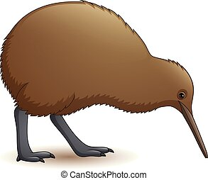 Cartoon funny kiwi bird