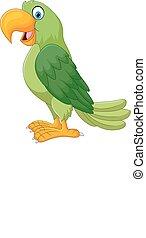 Cartoon funny parrot