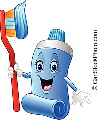 Cartoon funny toothpaste