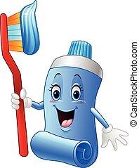 Cartoon funny toothpaste