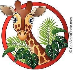 Cartoon giraffe mascot