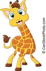 Cartoon giraffe posing