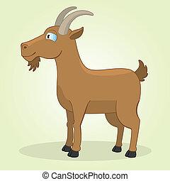 Vector Illustration of Cartoon Goat