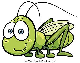Grasshopper - Vector illustration of cartoon Grasshopper