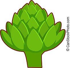 Vector illustration of cartoon greenery - Vector...