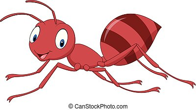 Cartoon happy ant