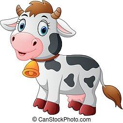 Cartoon Happy cartoon cow - vector illustration of Cartoon...