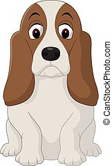 Cartoon happy dog sitting