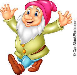 Cartoon happy dwarf - Vector illustration of Cartoon happy...